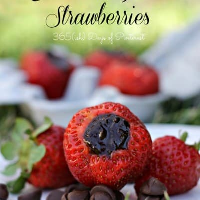 Chocolate Filled Strawberries: Day 17