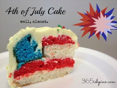 Day 27: 4th of July Cake