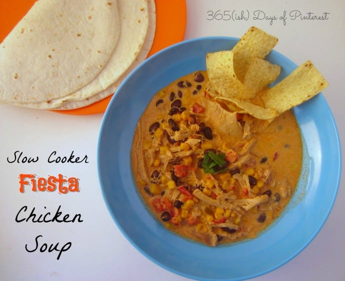 Slow Cooker Chicken Fiesta Soup