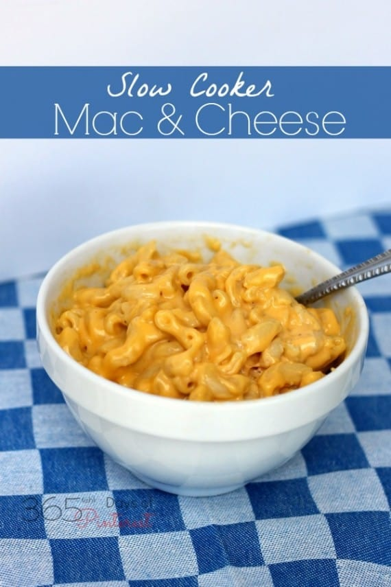 slow cooker mac and cheese with velveeta