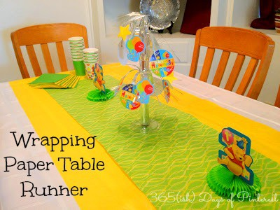Day 57: Wrapping Paper Table Runner