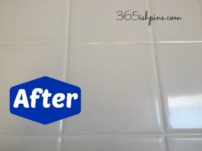 Day 56: Whiten Tile Grout with Vinegar