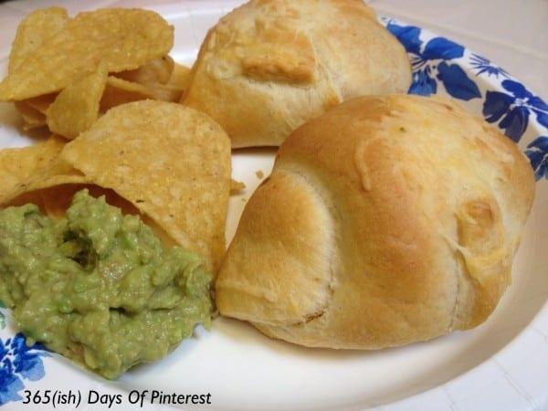 Chicken enchilada puffs