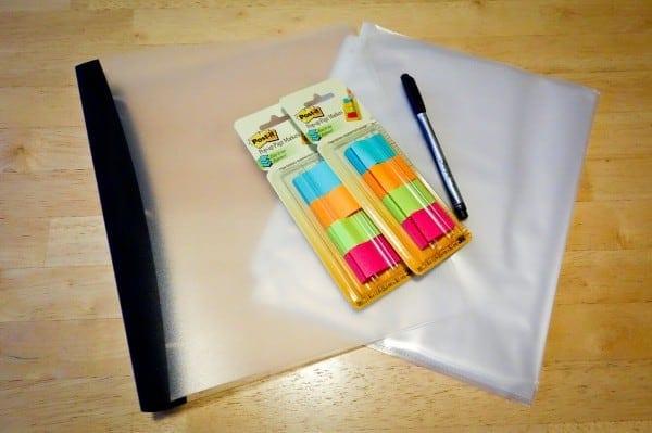 Meal planning binder system