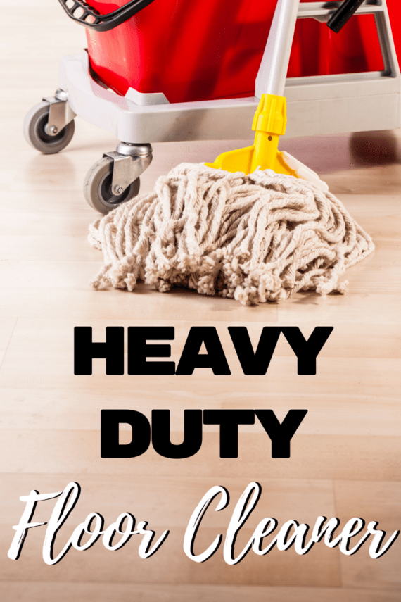 "Get those grimy floors clean with this heavy duty floor cleaner! It is perfect for getting rid of the ""boy bathroom"" smell!"