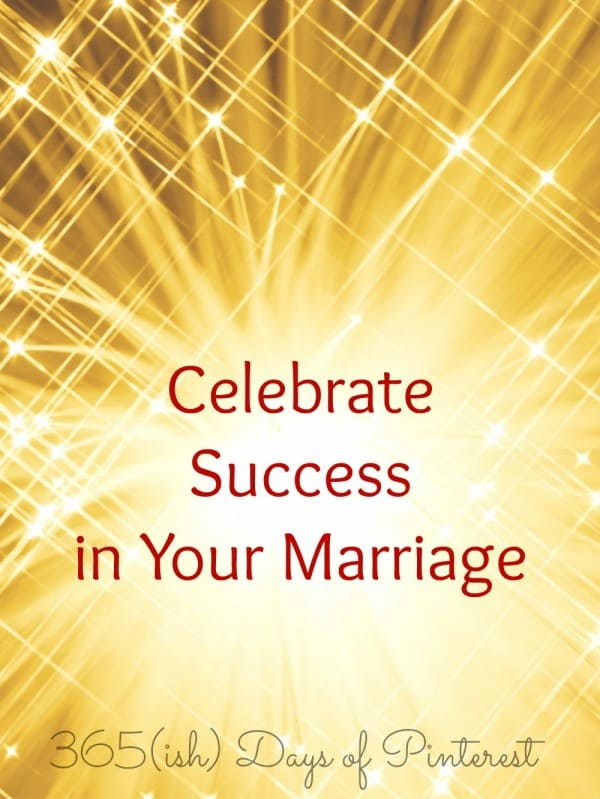 celebrate success in marriage