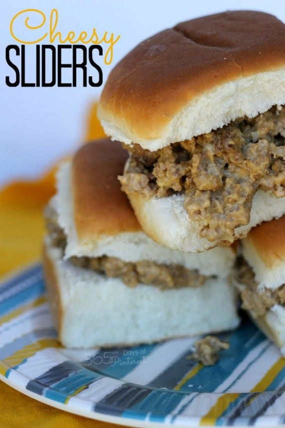 Cheesy sliders are the ultimate comfort food and perfect for a quick dinner or tailgating snack!