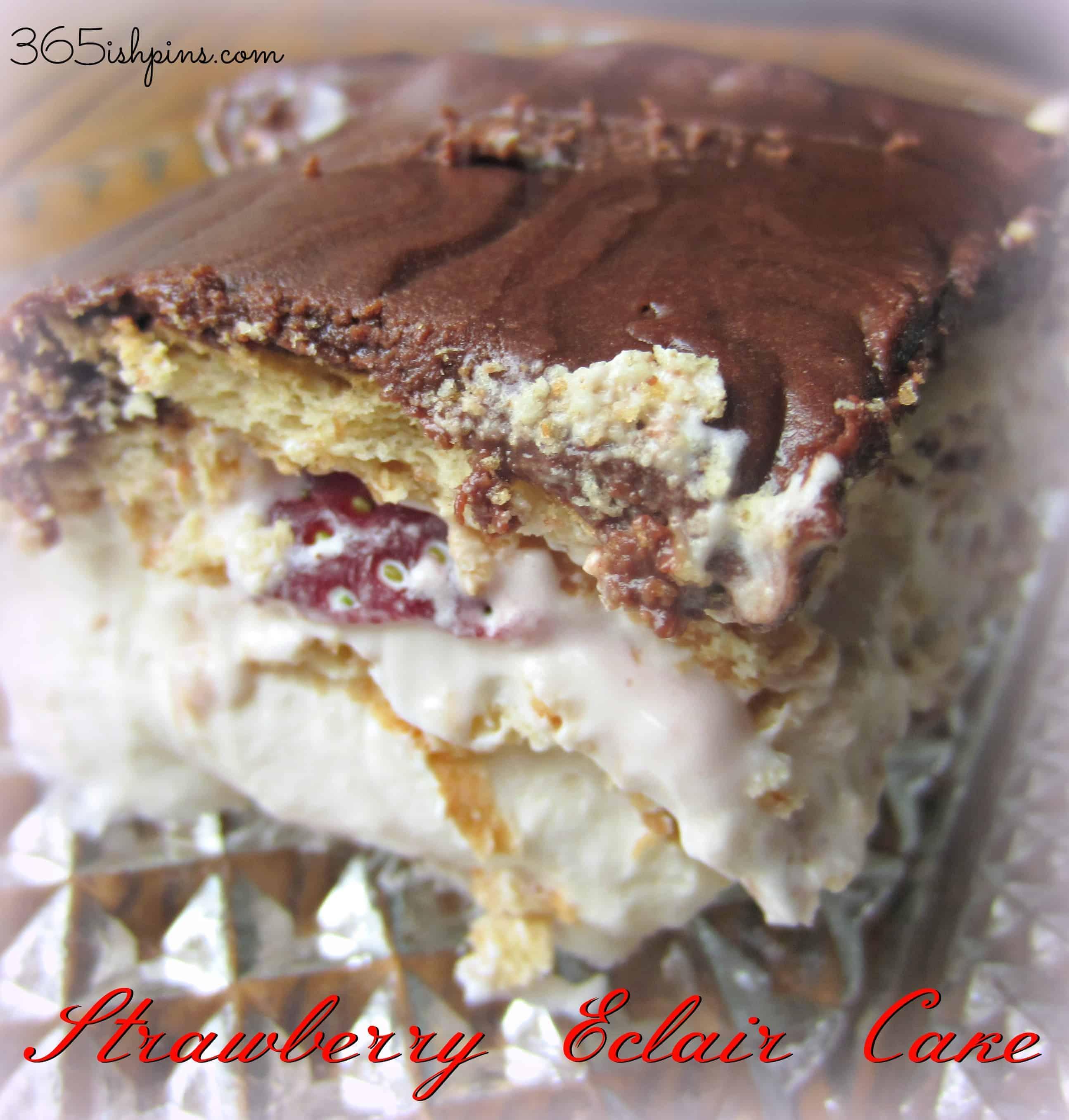 Day 333: Strawberry Eclair Cake