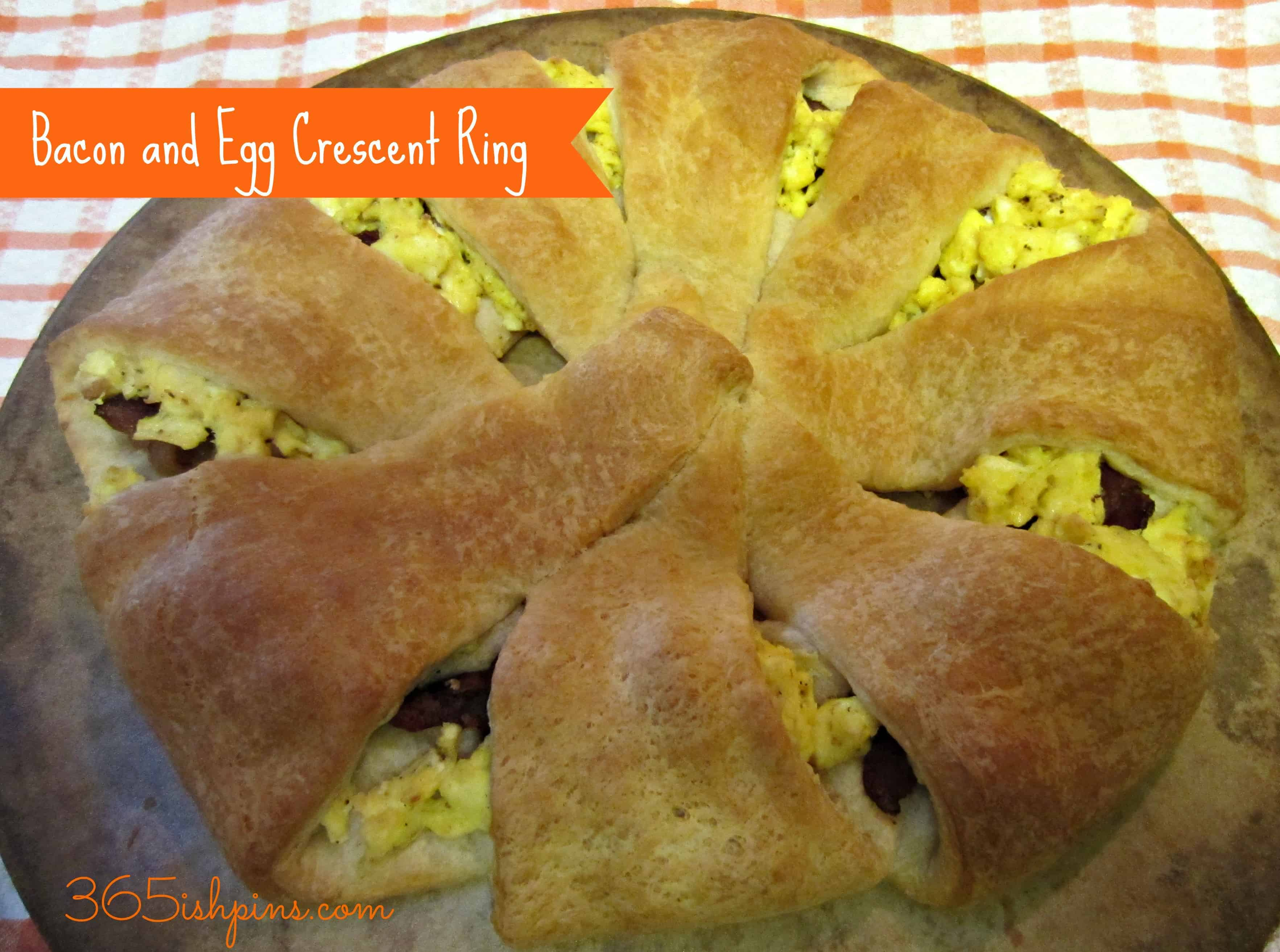 Day 331: Bacon&Egg Crescent Ring