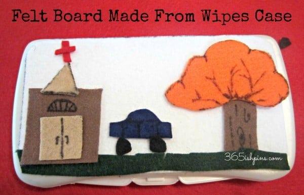 baby wipes felt board