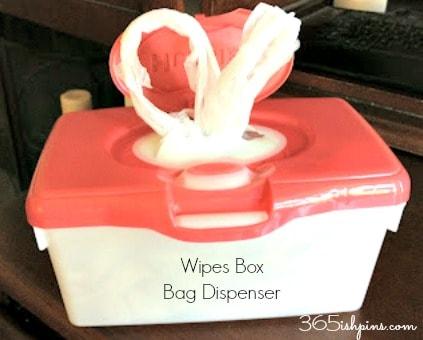 wipes box bag dispenser