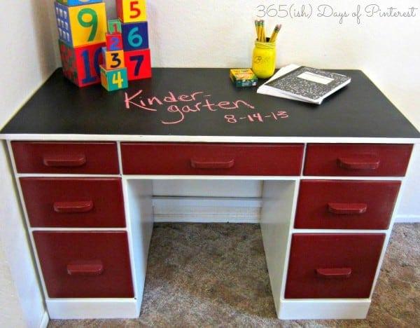 Desk After- chalkboard top