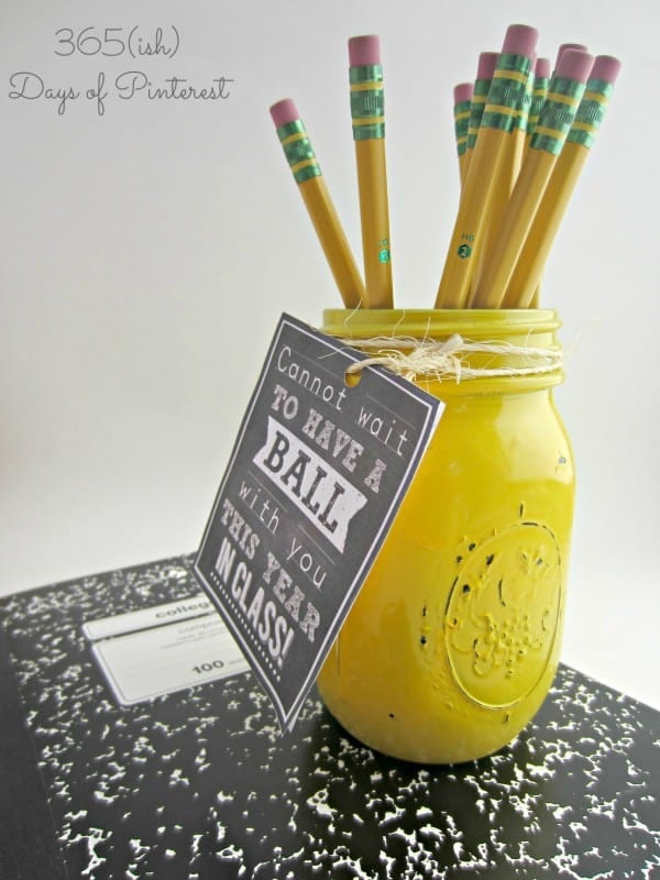 ball jar teacher gift