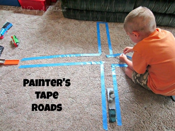 painter's tape roads