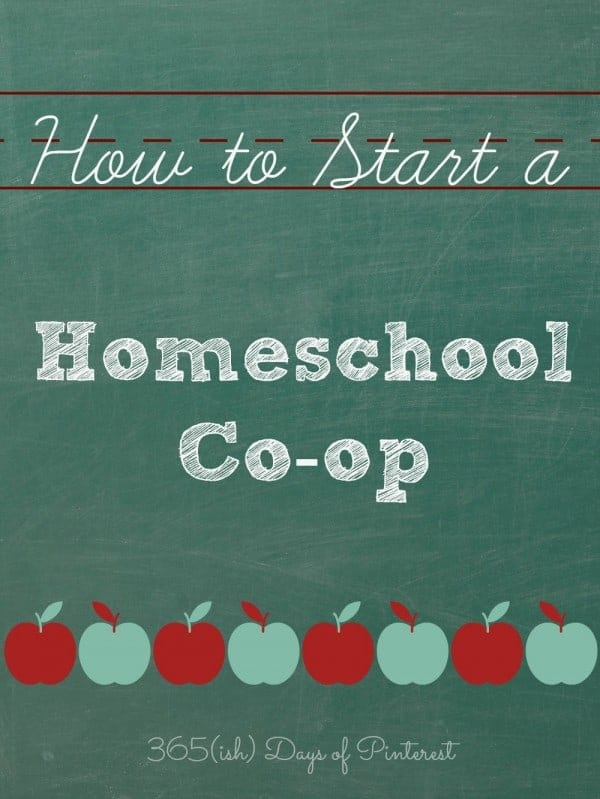 how to start a homeschool co-op