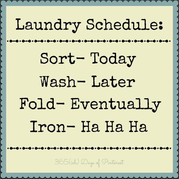 Laundry Schedule | simpleandseasonal.com