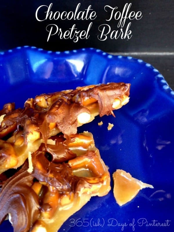 chocolate toffee pretzel bark