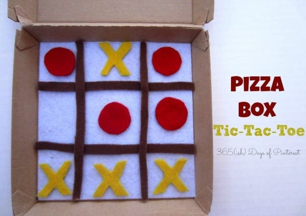 pizza box tic-tac-toe