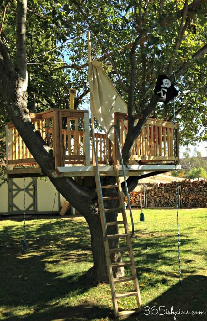 pirate ship tree house