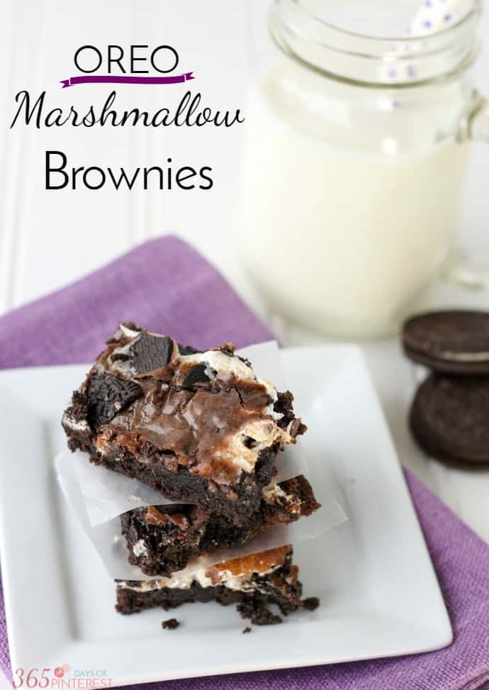 OREO marshmallow brownies pin