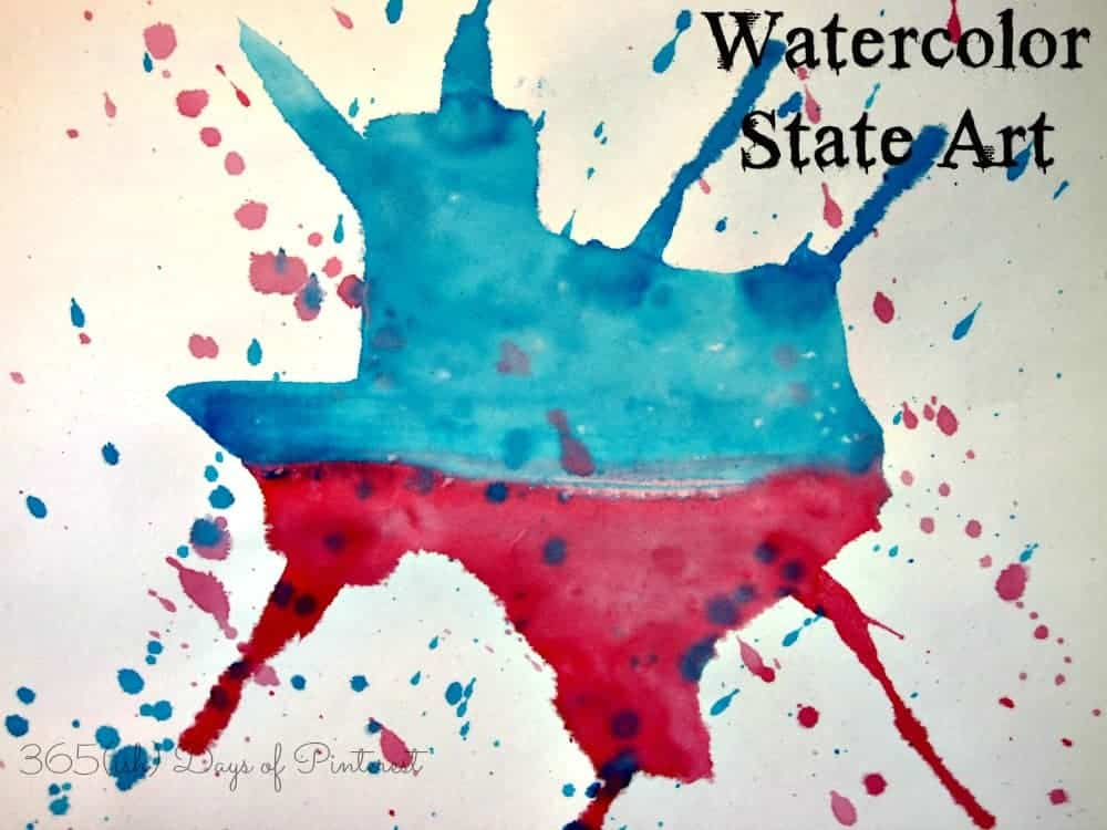 Watercolor State Art: Vol. 2, Day 45