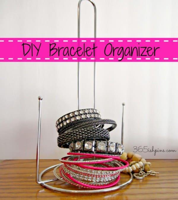 DIY bracelet organizer