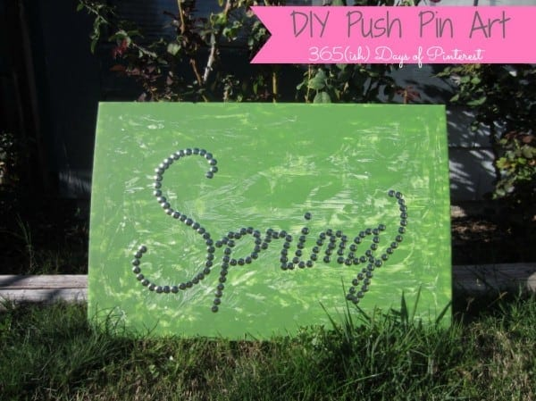 DIY Push Pin Art