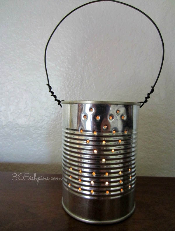 diy tin can lantern