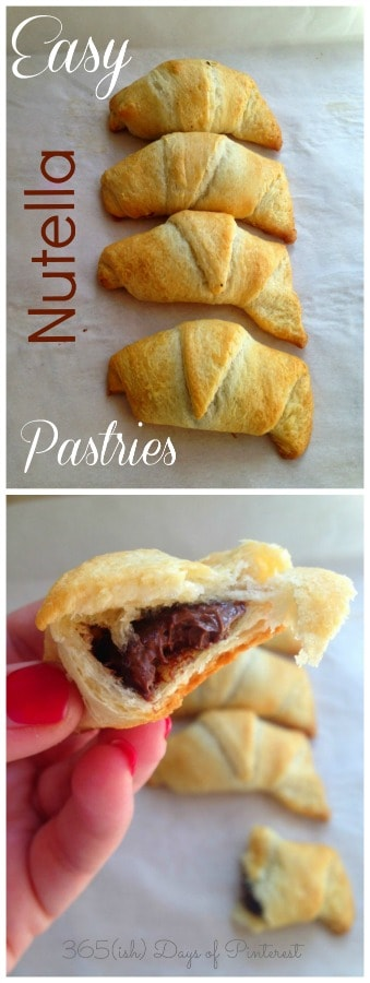 Easy Nutella Pastries