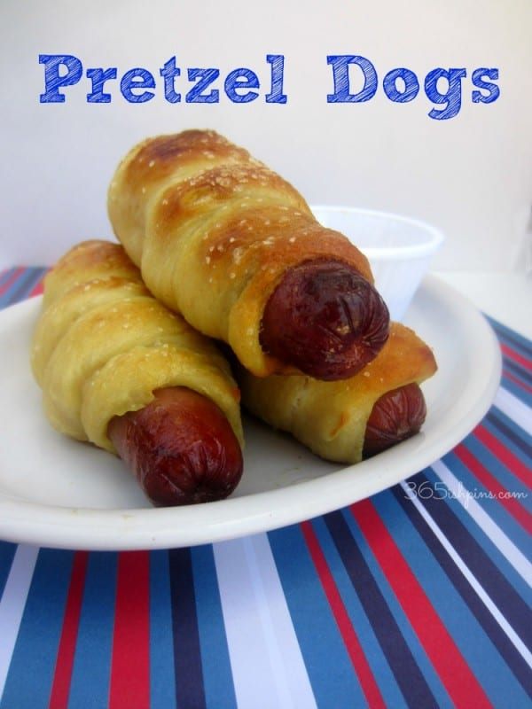 pretzel dog hot dog buns