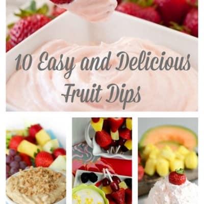 Fruit Dip Roundup