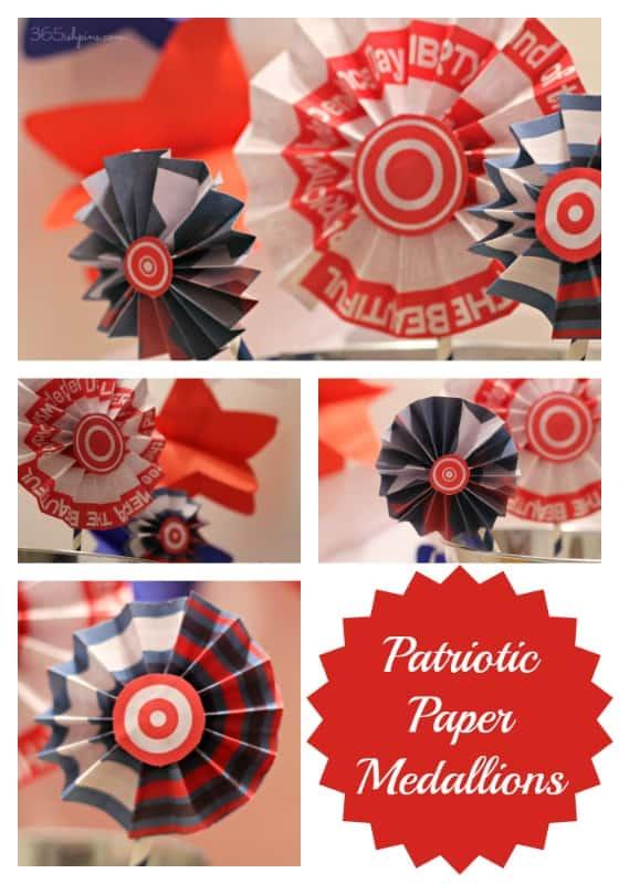 Patriotic Paper Medallions collage