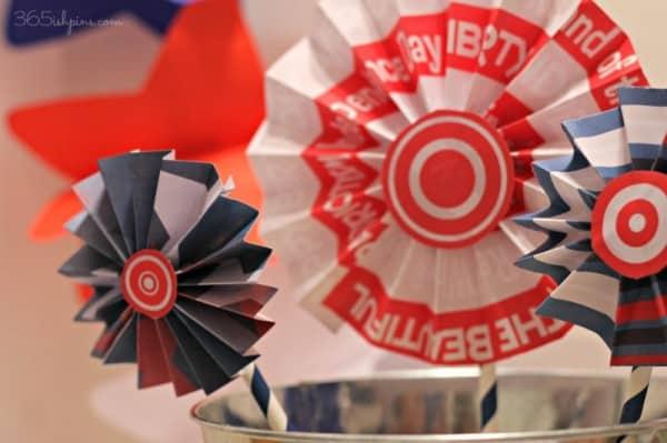 patriotic paper medallions