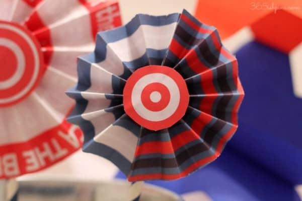 patriotic paper medallion