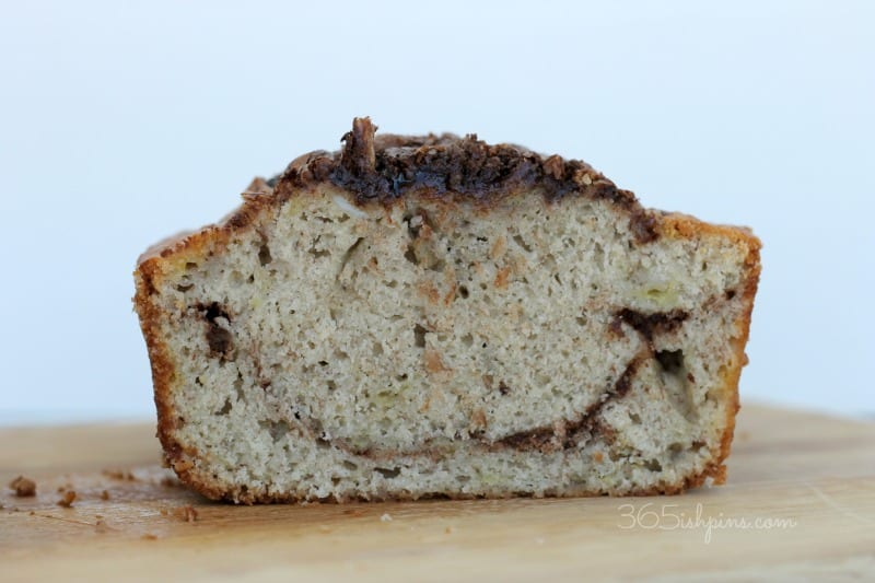 smiling banana bread