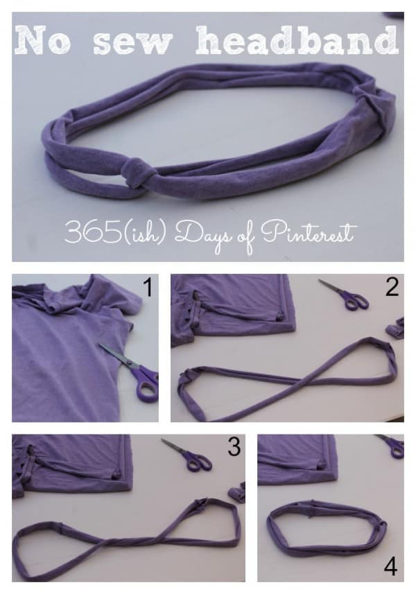 no sew headband collage