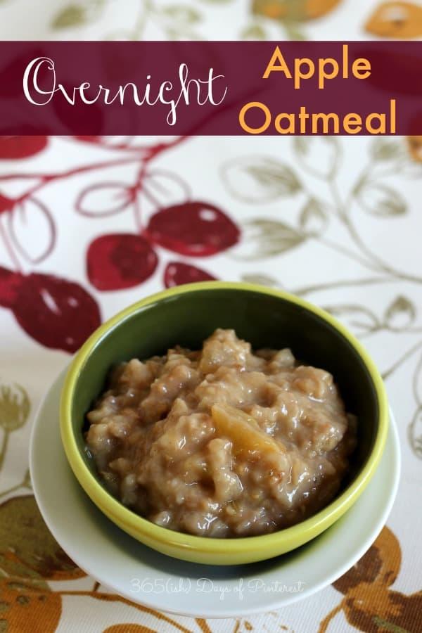 overnight apple oatmeal