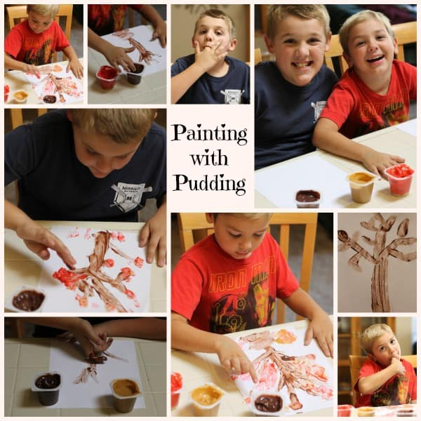 painting with pudding