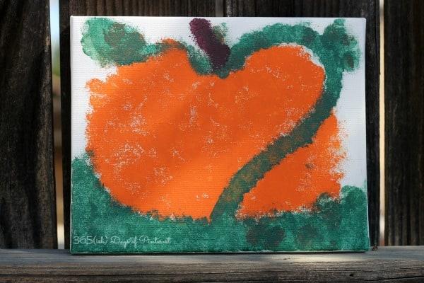 pointillism pumpkin