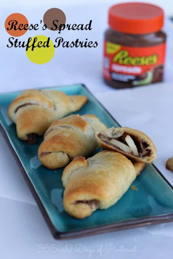 Reese's Spread Stuffed Pastries labeled