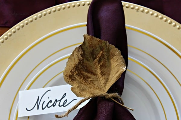 metallic place cards