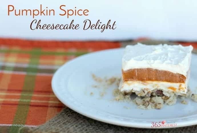 pumpkin spice cheesecake delight