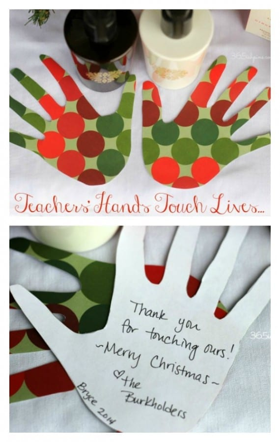 teachers hands collage