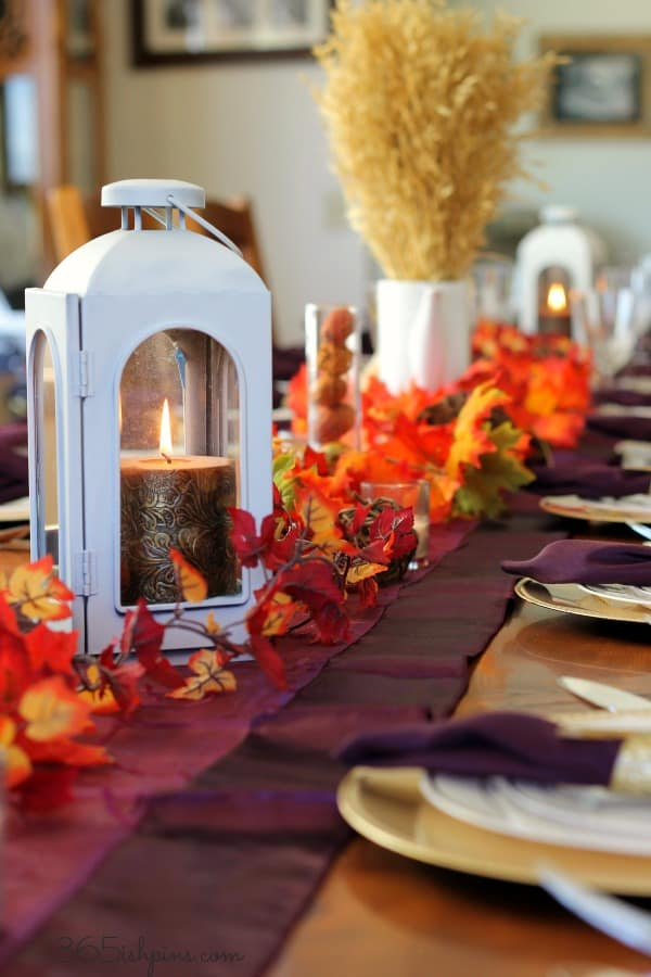 thanksgiving table lantern decor