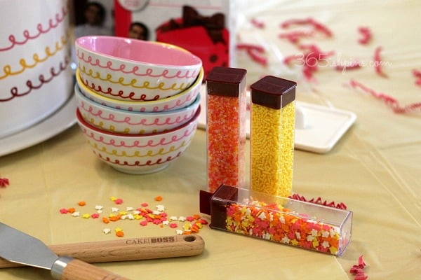 cake decorating party sprinkles