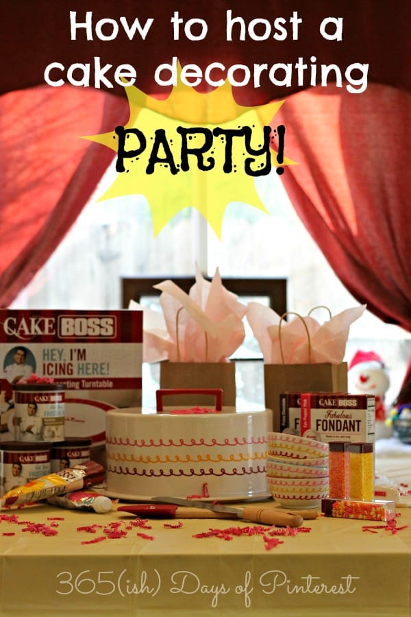 cake boss cake decorating party