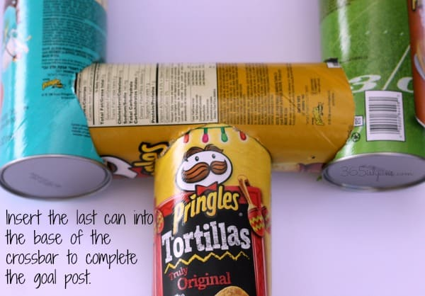 Pringles can goal post 4