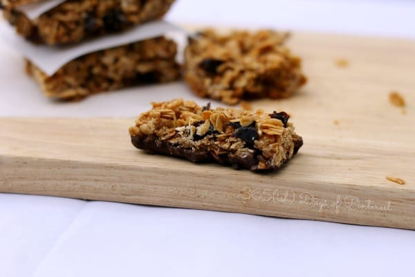granola bar with chocolate