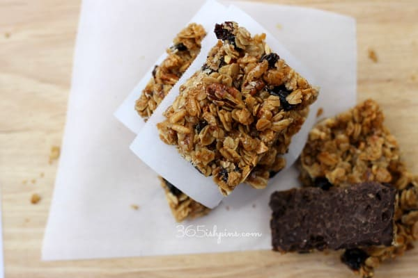 granola bars stack