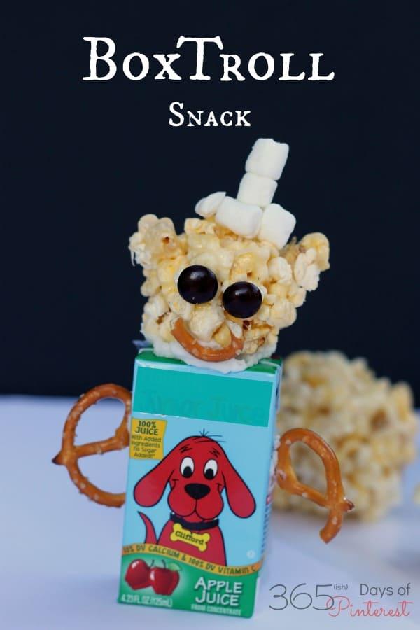 boxtroll popcorn ball for family movie night